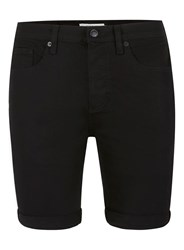 Topman Black Stretch Skinny Denim Shorts