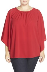 Plus Size Women's Vince Camuto Kimono Sleeve Blouse Crimson