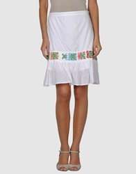 Local Apparel Skirts Knee Length Skirts Women White