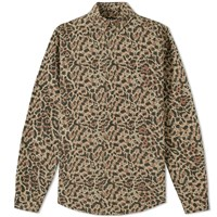 A.P.C. Leopard Overshirt Brown