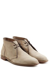Ludwig Reiter Suede Ankle Boots Beige