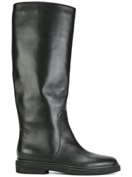 Sergio Rossi Knee Length Flat Boots Black