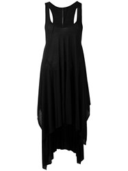 Barbara I Gongini Curved Hemline Dress Women Silk Modal 34 Black