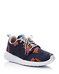 Nike Roshe One Jacquard Camouflage Lace Up Sneakers Blue Orange Camo