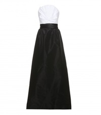 Oscar De La Renta Cotton Gown Black