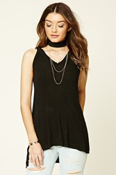 Forever 21 Ribbed Knit Hoodie Top