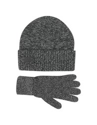 Dsquared Dark Gray Wool And Cashmere Set Of Gloves And Hat