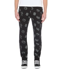 Billionaire Boys Club Printed Jersey Jogging Bottoms Black
