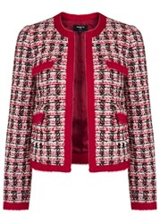Paule Ka Red Checked Tweed Jacket