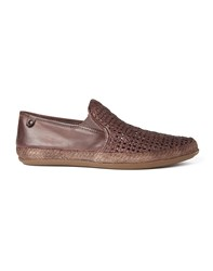 Base London Stage Woven Slip On Brown