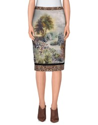 Angelo Marani Skirts Knee Length Skirts Women Light Grey