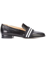 Rag And Bone Stripe Panel Loafers Women Leather 39.5 Black