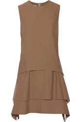 Brunello Cucinelli Layered Cotton Blend Dress Brown