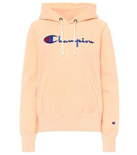 Champion Logo Cotton Hoodie Orange