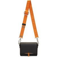 Heron Preston Black And Orange Leather Flap Bag