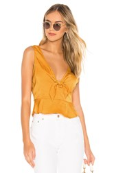 Bcbgeneration Knot Front Top Mustard