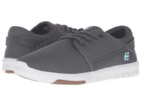 Etnies Scout W Grey White Gum Women's Skate Shoes Gray