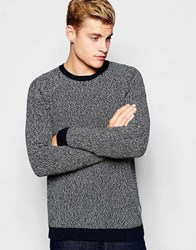 Jack And Jones Jack And Jones Crew Neck Jumper With Twisted Yarns Navyblazer