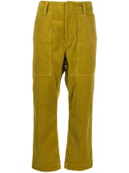 Sofie D'hoore Porter Cropped Trousers Green