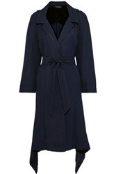 Roland Mouret Woman Victor Draped Twill Trench Coat Navy