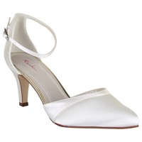 Rainbow Club Harper Satin Pointed Court Shoes Ivory