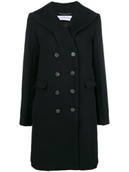Carven Double Breasted Coat Black