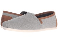 Toms Chambray Classics Frost Grey Chambray 2 Men's Slip On Shoes Gray