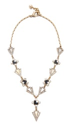 Lulu Frost Terraced Necklace Gold Black Clear