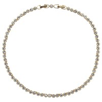 Cachet Swarovski Crystal Tennis Necklace Gold Plated