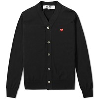 Comme Des Garcons Play Little Red Heart Cardigan Black