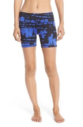 Alo Yoga Women's Alo 'Burn' Graphic Shorts Deep Electric Blue Tie Dye