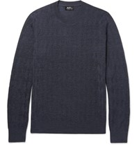 A.P.C. Merino Wool Blend Sweater Navy