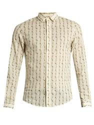 Gucci Rose Print Cotton Shirt Cream Multi