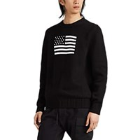 Alyx Intarsia Flag Cotton Sweater Black