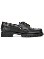 Gucci Snake Embossed Loafers Black