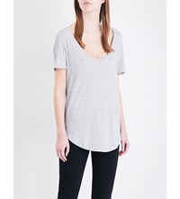 Ag Jeans The Kiley Jersey T Shirt Heather Grey