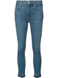 Citizens Of Humanity Super Skinny Cropped Jeans Blue