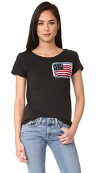 Happiness American Flag Tee Black