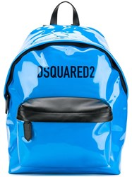 Dsquared2 Patent Leather Backpack Blue