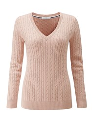 Henri Lloyd Sophia Cable V Neck Knit Clay