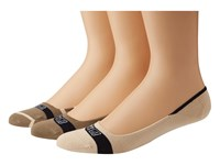 Sperry Signature Invisible 3 Pair Pack Taupe Bone Crew Cut Socks Shoes Multi