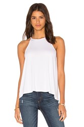 Bella Luxx Pleated Back Tank White