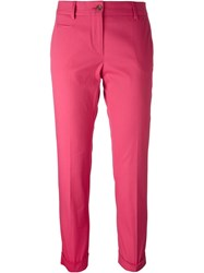 Alberto Biani Cropped Tailored Trousers Pink And Purple