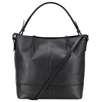 John Lewis Loren Leather Bucket Bag Black