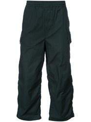 Undercover Gathered Detail Cropped Trousers Men Cotton 4 Green