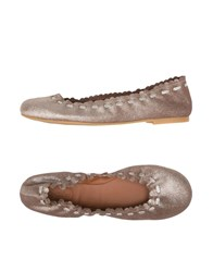 See By Chloe Ballet Flats Platinum