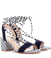 Gianvito Rossi Antibes 60 Suede Sandals Blue