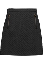 See By Chloe Quilted Twill Mini Skirt Black