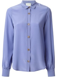 Forte Forte Classic Bell Sleeve Blouse Pink And Purple