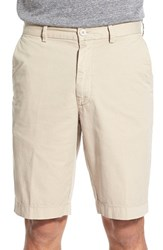 Men's Big And Tall Brax Flat Front Stretch Cotton Shorts Beige